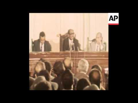 SYND 11 10 78 PRESIDENT SADAT ADDRESSES SUPREME JUDICIARY COUNCIL
