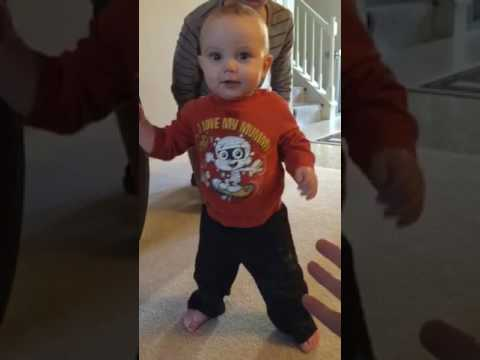 Holden learning to walk January 15 2015