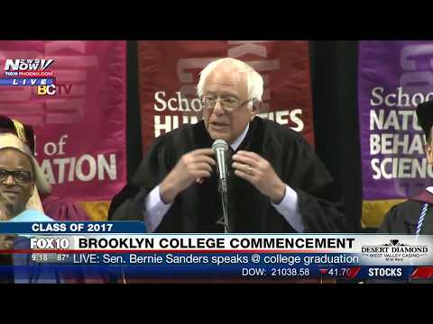 FNN: Bernie Sanders Gets Honorary Degree and Delivers Commencement Speech @ Brooklyn College (FULL)