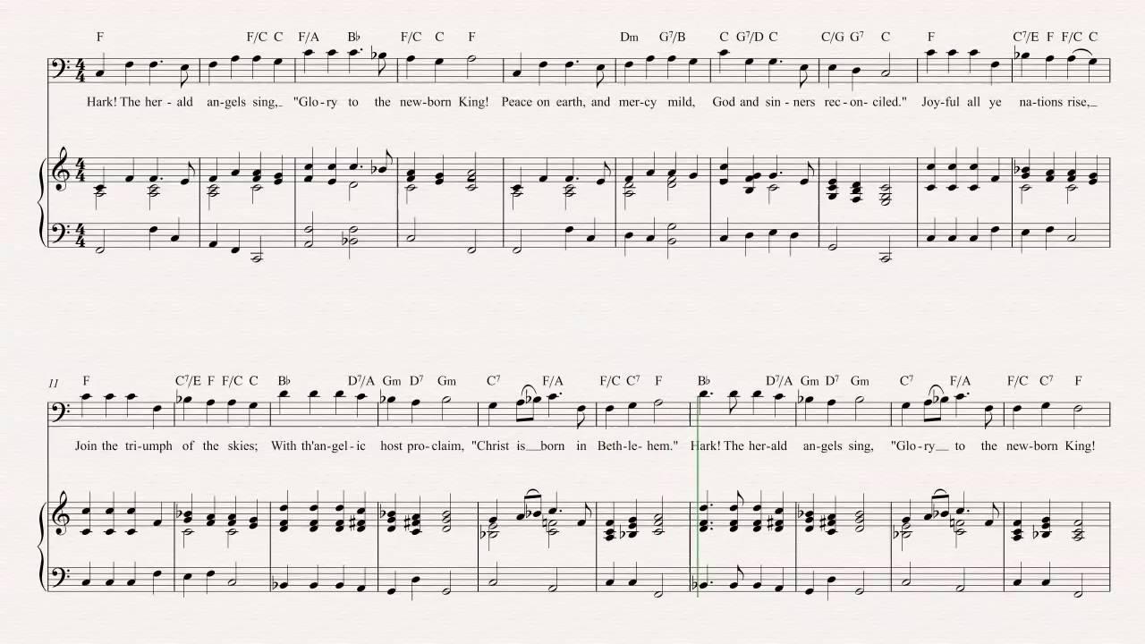 Euphonium - Hark! The Herald Angels Sing - Christmas Carol - Sheet ...