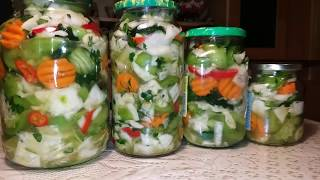 Маринованное овощное ассорти без стерилизации
