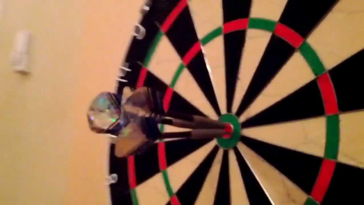 amazing dart shot 3 darts bulls eye youtube