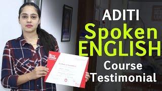 English Speaking Course in Chandigarh - Aditi Spoken Testimonial at IELTS Learning