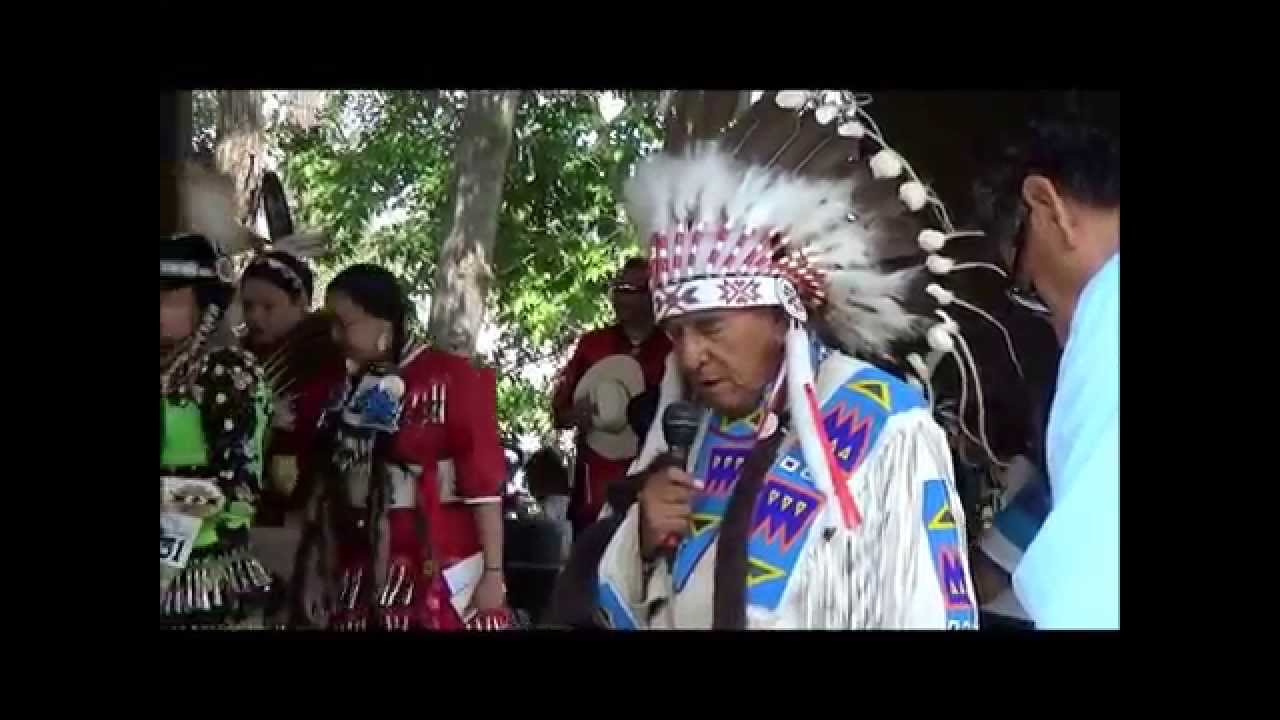 Indian Village Pow Wow Chief S Opening Prayer Calgary