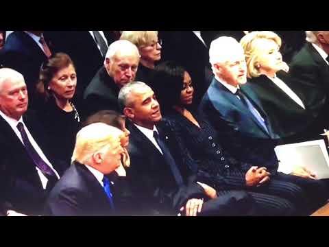 Body Language Analysis Donald Trump meets Obama & Hillary Clinton at Bush Poker Game en streaming