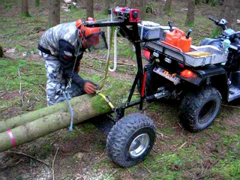 Homemade ATV Log Skidding Arch: Upclose video - YouTube