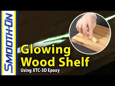 How To Make A Glow In The Dark Wood Shelf Using Epoxy