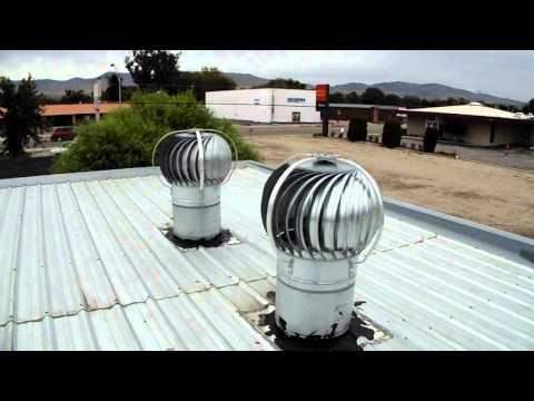 Wind Powered Warehouse Ventilation