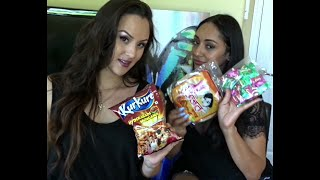 American girls try Indian snacks!!