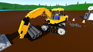 Lego City Excavator for Children, Kids, Construction of an Excavator. Cartoon for Kids