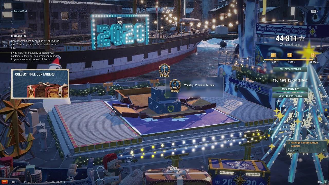 Wows Christmas Crates 2020 Ships World of Warships Santa Crates and Tier 10 Snowflakes   YouTube