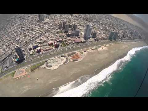 Flying Over the city of Iquique.
