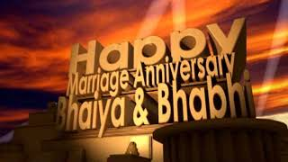Happy Marriage Anniversary Bhaiya & Bhabhi