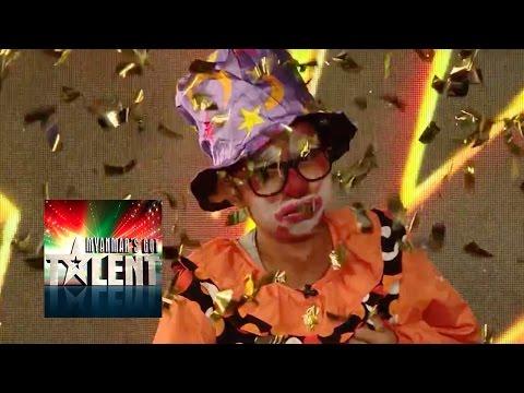 GOLDEN BUZZER GOT TALENT AUDITION! Joker Audition   Myanmars Got Talent 2015 Season 2
