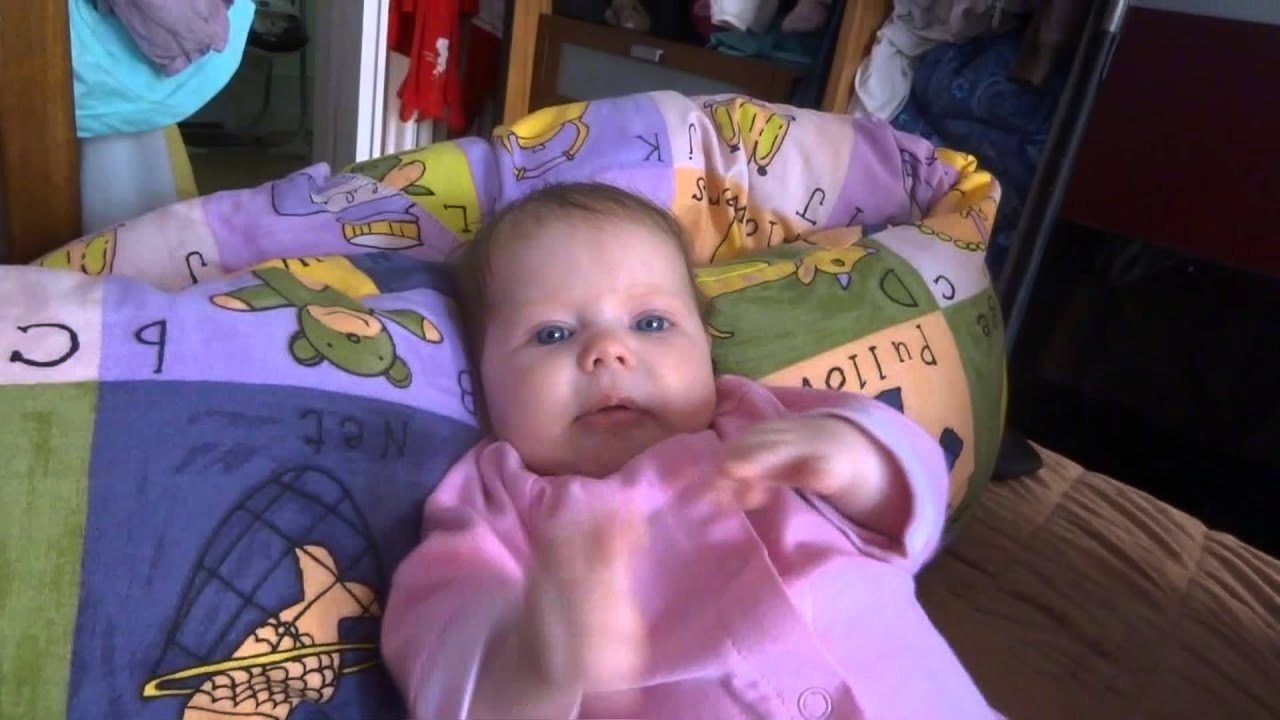 Amazing 2 months old baby girl talking - YouTube