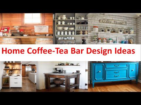 Home Coffee Tea Bar Design Ideas