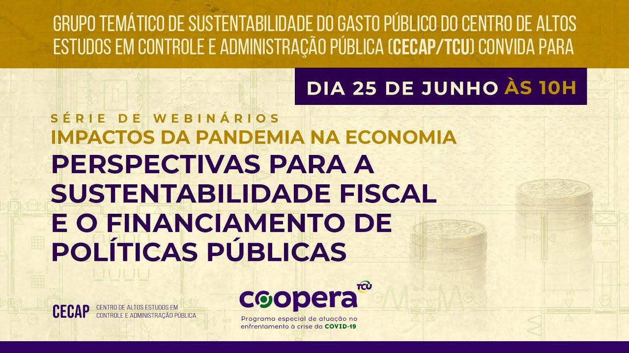 Webinário - Perspectivas para a Sustentabilidade Fiscal e o Financiamento de Políticas Públicas