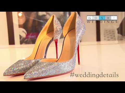 05fd3fdca4a Sparkly Christian Louboutin bridal shoes - YouTube