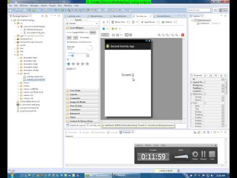 3 Add activities[screens] to android application using eclipse by jasbir