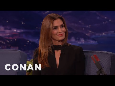 Cindy Crawford Nearly Ended Up In Bed With George Clooney  - CONAN on TBS