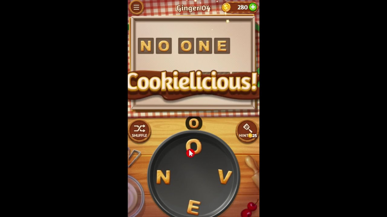 Word Cookies Ginger 4 Answers Guide - YouTube