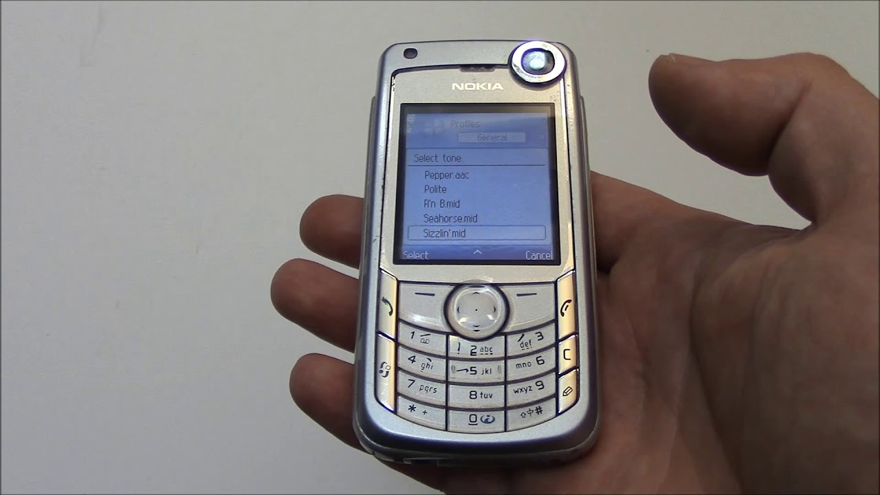The Vintage Nokia 6680 Cell Phone Review Youtube