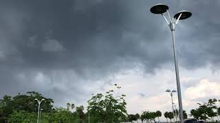 Severe Thunderstorm Approaching Tampa Bay June 2018- Ominous Dark Clouds