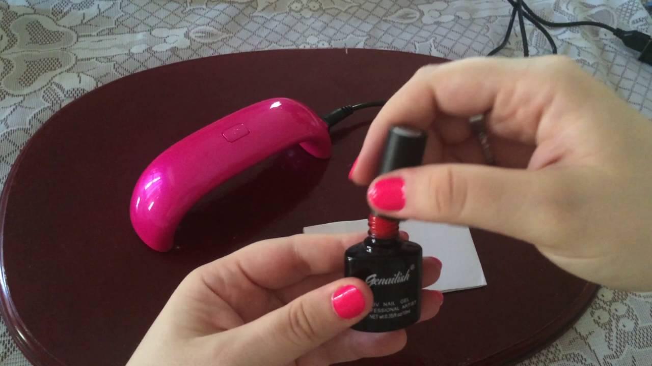 Lámpara para uñas, mini LED - YouTube