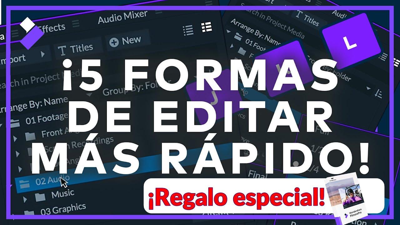 5 Maneras de Editar Más Rapido | FimoraPro Tutorial