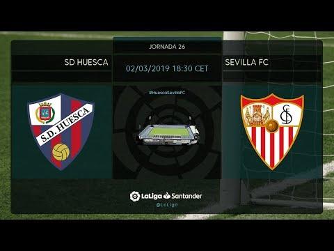 Calentamiento SD Huesca vs Sevilla FC