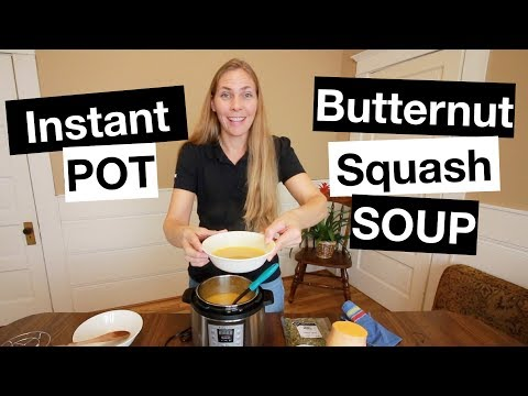 Instant POT Ginger And Butternut Squash Soup
