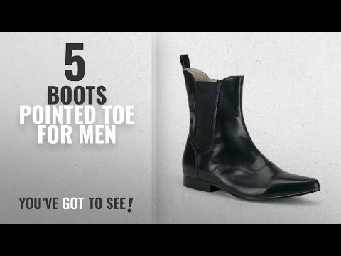 Top 10 Boots Pointed Toe [ Winter 2018 ]: Mens Ankle Boot Black Nappa Style Pointed Toe Size: 10