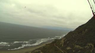 paragliding at mussel rock (the dumps) pacifica, california