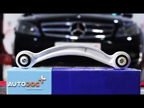 How to replace bonnet struts MERCEDES-BENZ C W204 TUTORIAL | AUTODOC