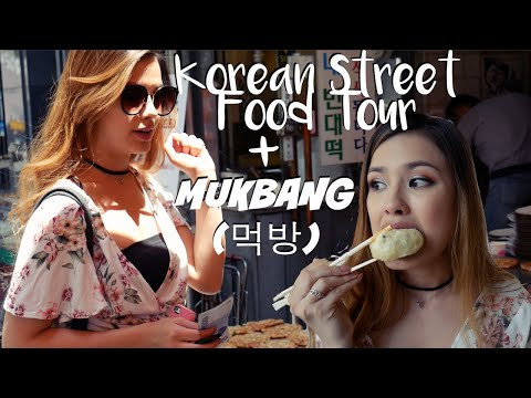 THE BEST KOREAN STREET FOOD GUIDE + TOUR| Mukbang (먹방) Eating Show
