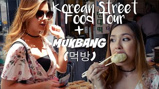 THE BEST KOREAN STREET FOOD GUIDE + TOUR| Mukbang (먹방) Eating Show
