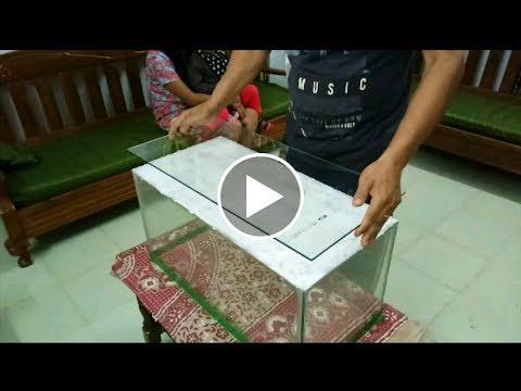 How To Repair Aquarium Tank Floor Cracked | Haflong
