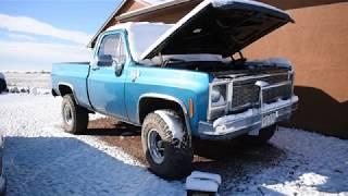 SNOWY COLD START | 1980 CHEVY K10 | 4BT CUMMINS
