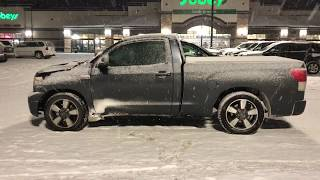 Project Thundra - 9 Second 1000 hp Tundra - Drag Racing In A Blizzard