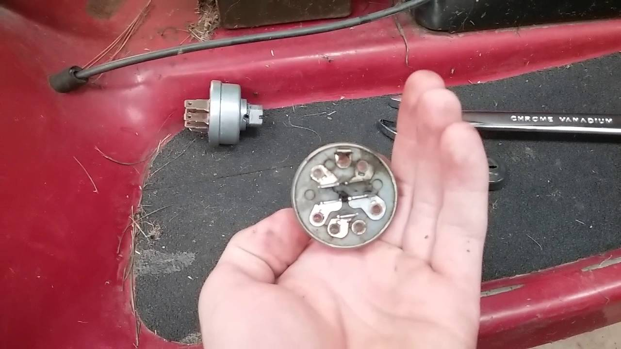Lawn Mower Key Switch Replacement  YouTube