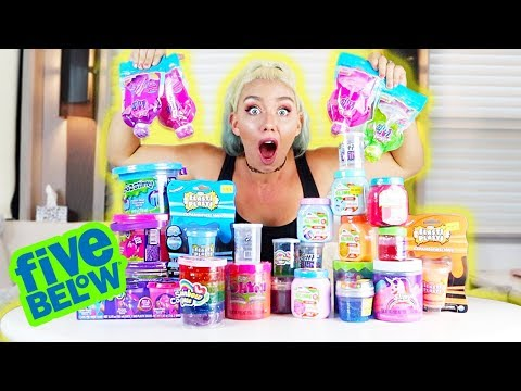 MIXING ALL MY SLIME FROM 5 BELOW! WORST SLIME EVER?! GIANT SLIME SMOOTHIE