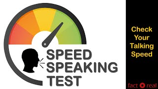 How fast you can Speak   Speed Speaking Test