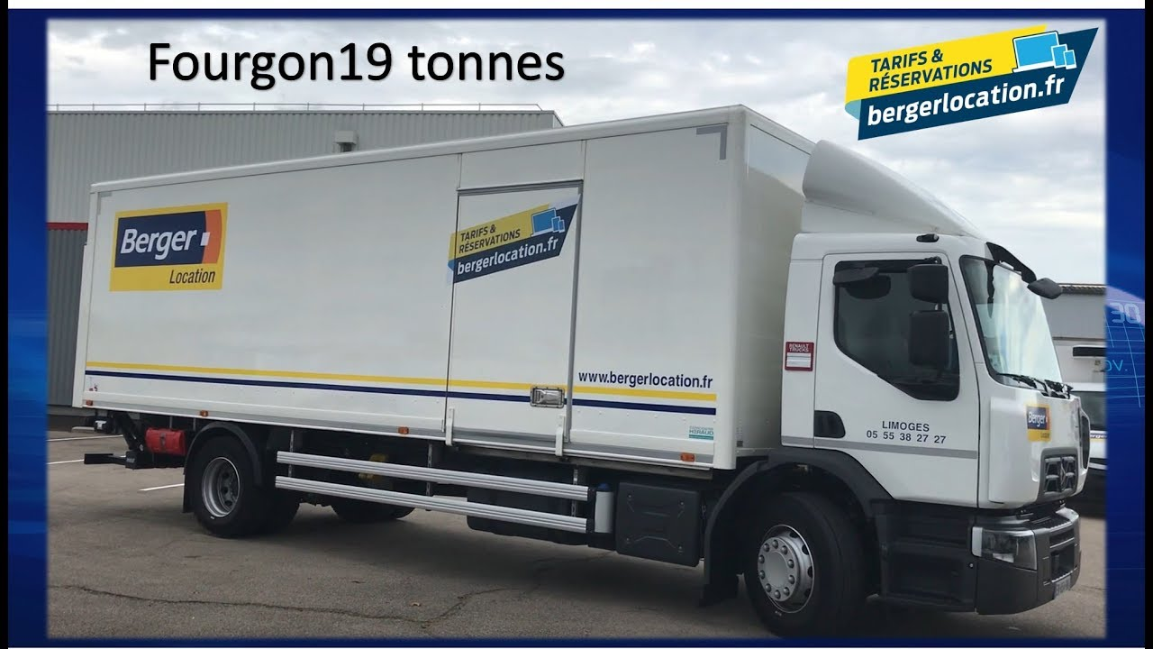 Location Camion Dimanche Berger Location - Camion 4x2 Fourgon 19 Tonnes - Youtube