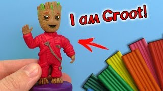 ЛЕПИМ МАЛЫША ГРУТА ИЗ ПЛАСТИЛИНА | BABY GROOT from Guardians of the Galaxy 2