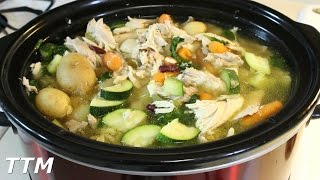 How To Make The Best Chicken Vegetable Soup In The Slow Cooker~crock Pot Whole Chicken Recipe
