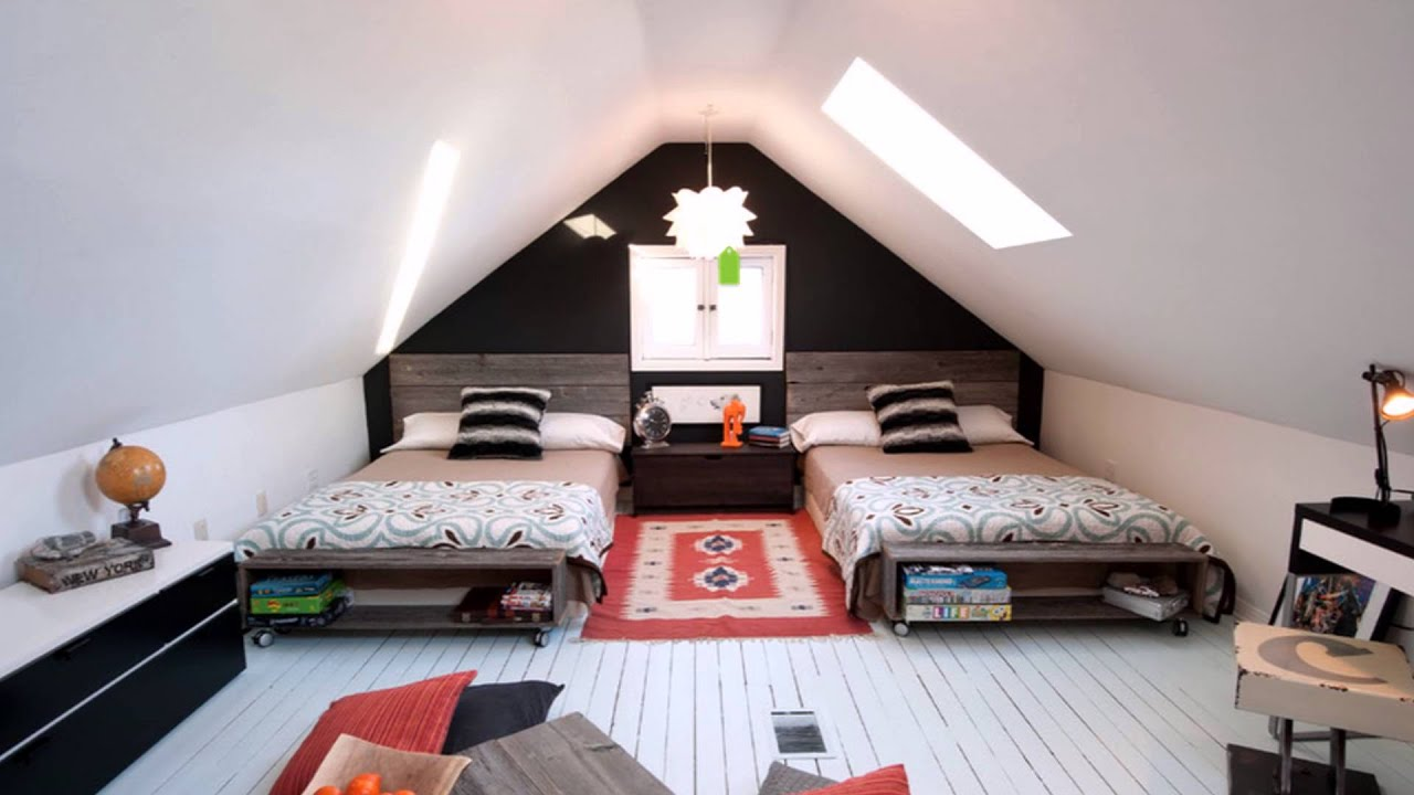 Great Attic Bedroom Design Ideas