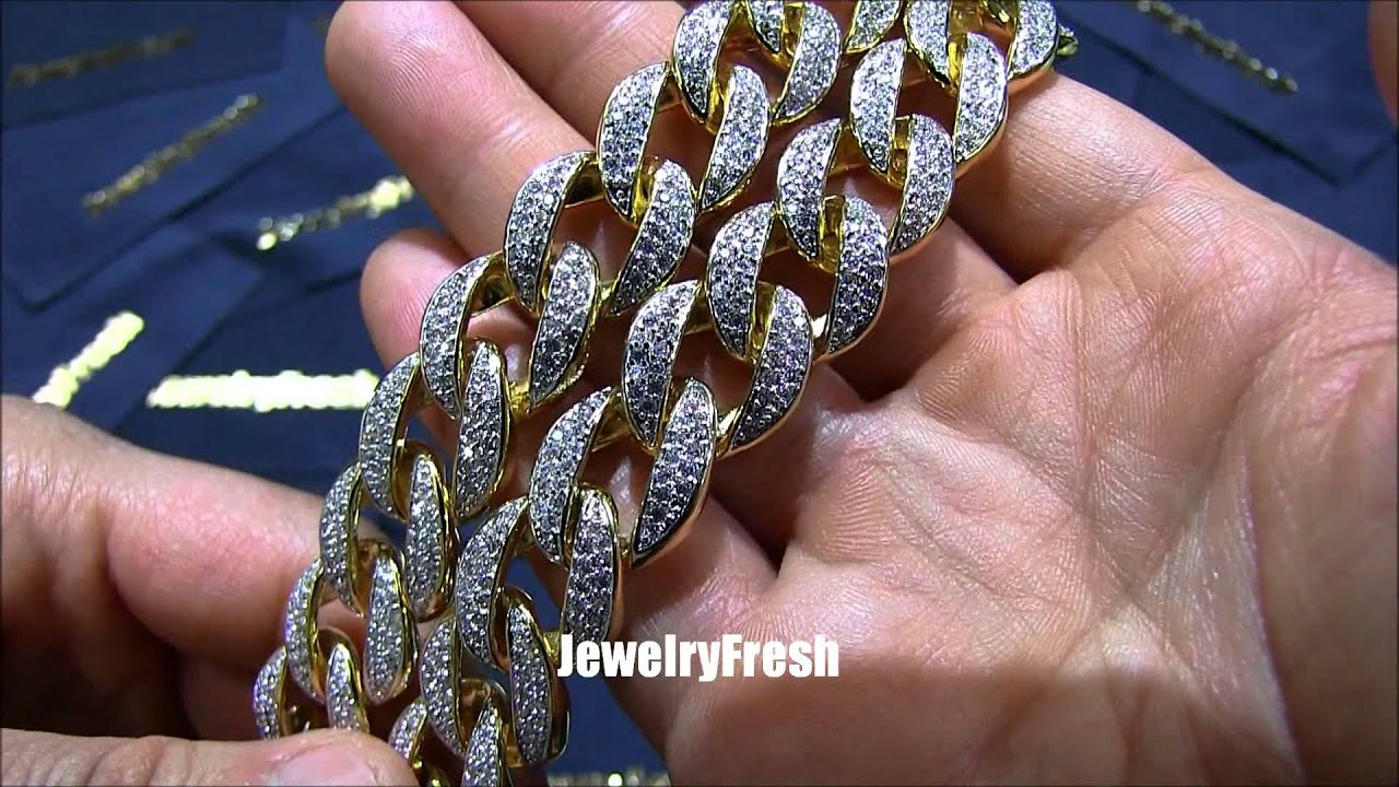 Jewelryfresh 18mm Lab Diamond Iced Out Jumbo Cuban Link