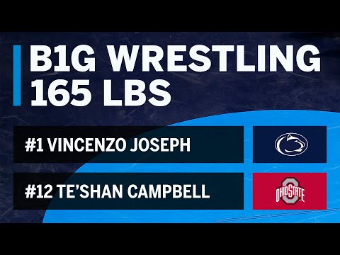 165 LBS: #12 Te'Shan Campbell (Ohio State) vs. #1 Vincenzo Joseph (Penn State) | Big Ten Wrestling