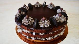 Шоколадный торт Орео НЕЖНО ВКУСНО просто ТАЕТ ВО РТУ лучший шоколадный бисквит