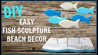 Easy School of Fish |  Woodworking DIY Projects | Beach Decor | Craft Klatch | How To